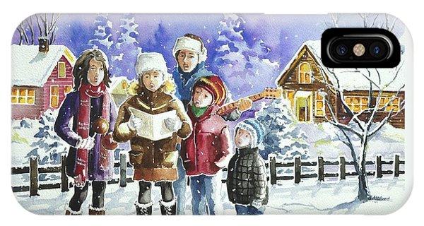 Christmas Family Caroling IPhone Case
