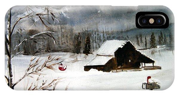 Christmas Farm House IPhone Case