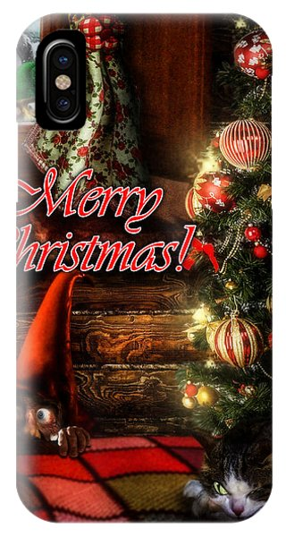 Christmas Greeting Card Viii IPhone Case