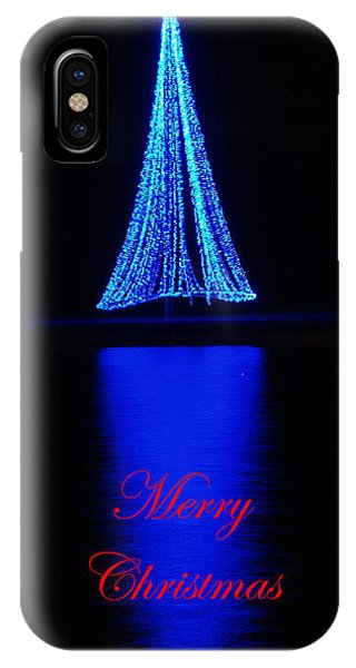 Christmas In Blue IPhone Case