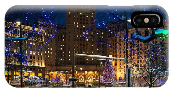 Christmas In Downtown Cleveland IPhone Case