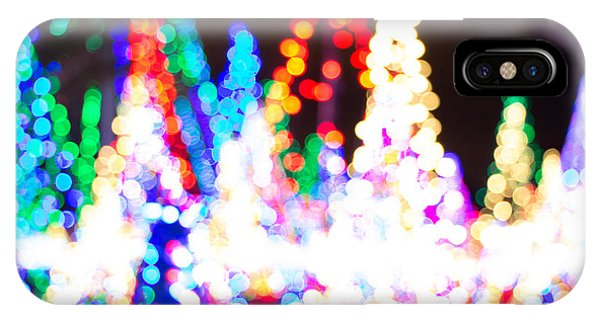 Christmas Lights Abstract IPhone Case