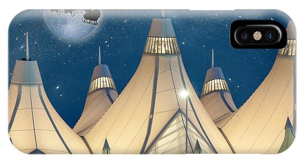 Christmas Night At Denver International Airport IPhone Case