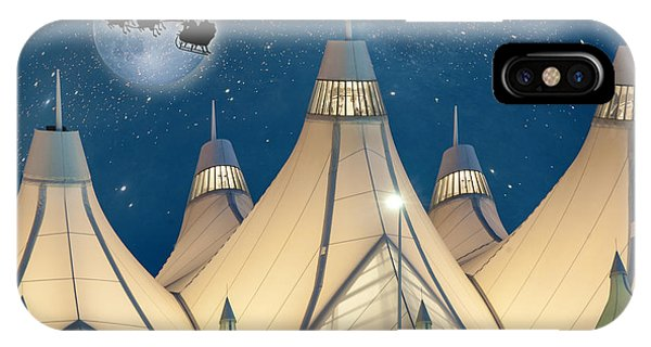 Christmas Night At Denver International Airport IPhone Case