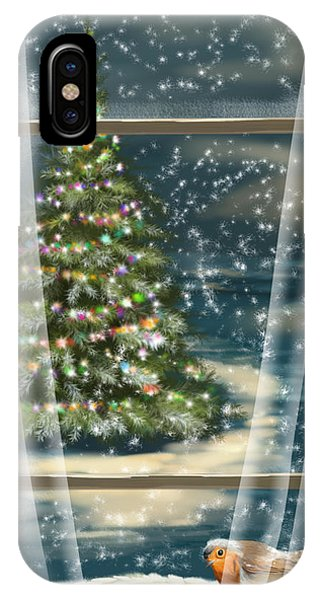 Christmas Tree iPhone Case - Christmas Night by Veronica Minozzi