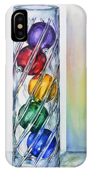 Christmas Ornaments In Vase IPhone Case