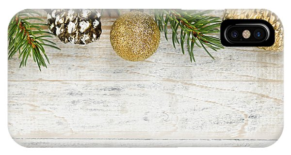 Spruce iPhone Case - Christmas Ornaments On Fir Branch by Elena Elisseeva