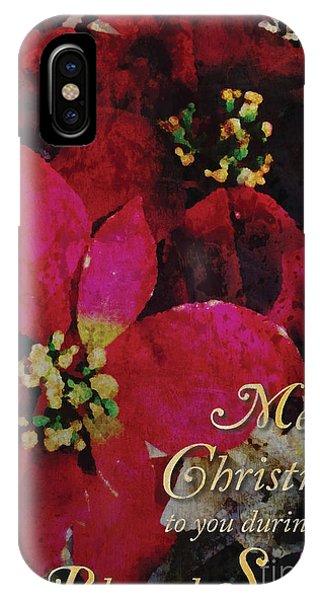 Christmas Poinsettia IPhone Case