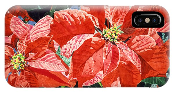 Christmas Poinsettia Magic IPhone Case