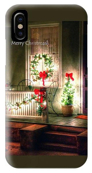 Christmas Porch IPhone Case