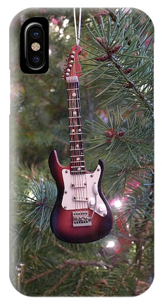 IPhone Case featuring the photograph Christmas Stratocaster by Richard Reeve