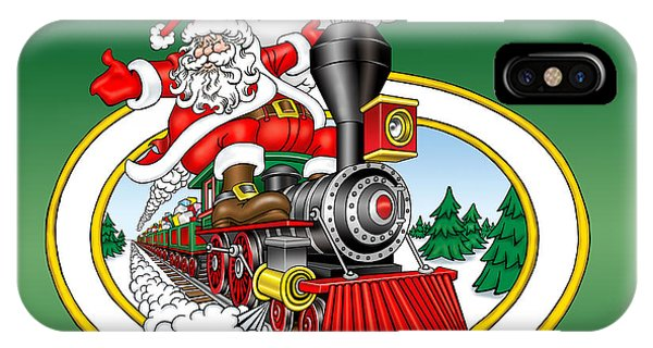 iPhone Case - Christmas Train by Bill Proctor