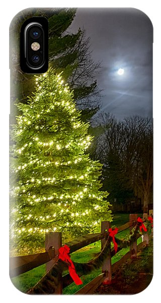 Christmas Tree And Full Moon IPhone Case