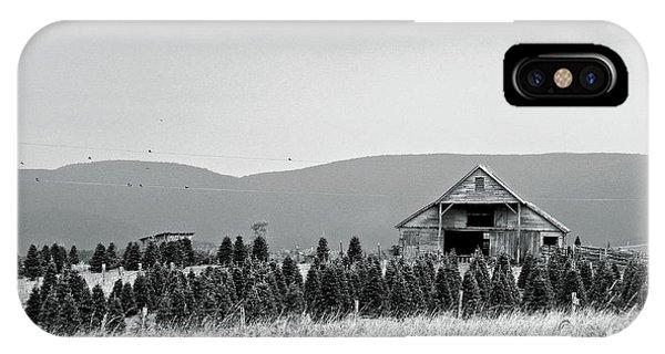 Christmas Tree Farm - Bw IPhone Case