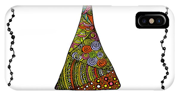 Christmas Tree iPhone Case - Christmas Tree From Patterns.vector by Ihnatovich Maryia