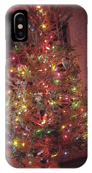 IPhone Case featuring the photograph Christmas Tree Memories Red by Carol Whaley Addassi