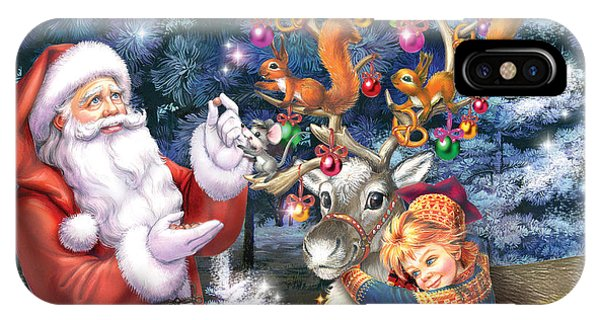 Winter Fun iPhone Case - Christmas Tree-rudolph by MGL Meiklejohn Graphics Licensing