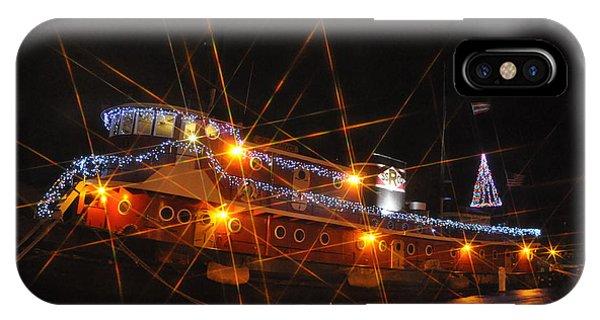 Christmas Tug Boat IPhone Case