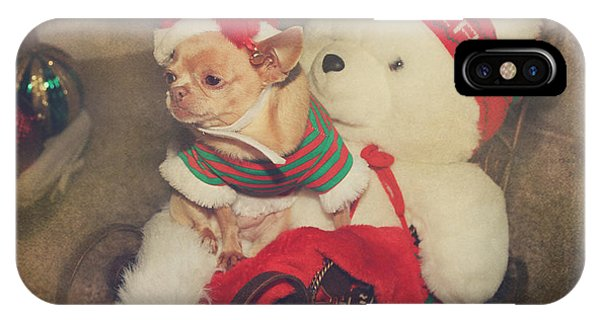 Chihuahua iPhone Case - Christmas Zoe by Laurie Search