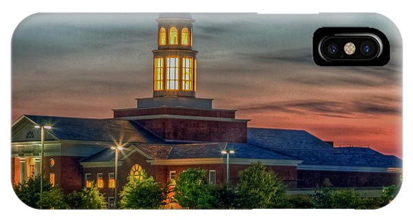 Christopher Newport University Trible Library At Sunset IPhone Case