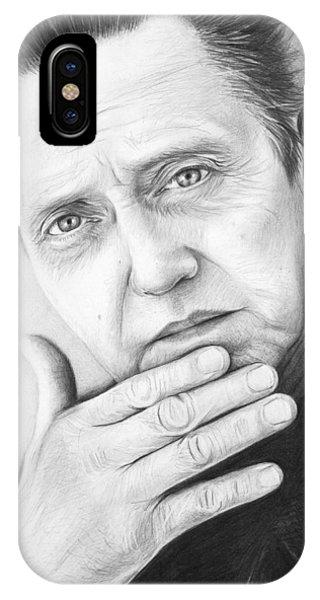 Illustration iPhone Case - Christopher Walken by Olga Shvartsur