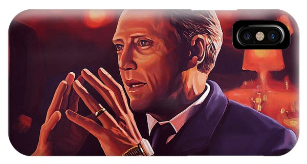 At Work iPhone Case - Christopher Walken Painting by Paul Meijering