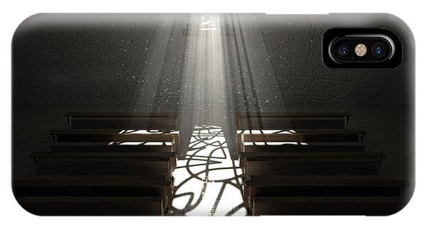 Beam iPhone Case - Christ's Light In The Dark by Allan Swart