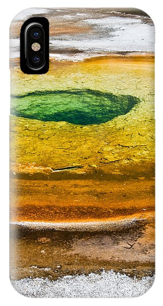 Yellowstone National Park iPhone Case - Chromatic Pool Vertical by Delphimages Photo Creations