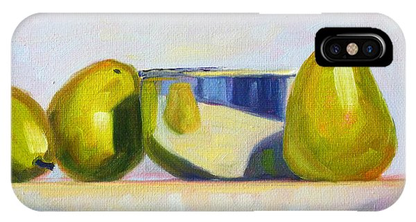 Concorde iPhone Case - Chrome And Pears by Nancy Merkle