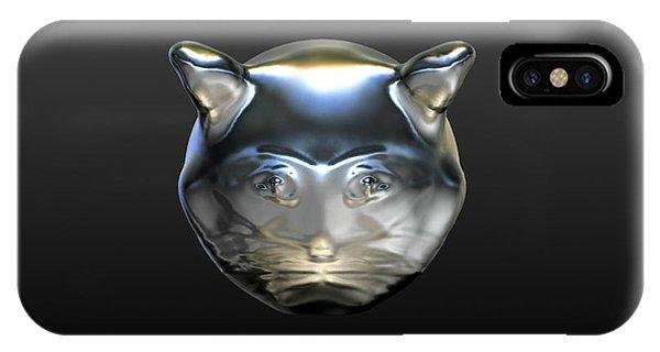 Chrome Cat IPhone Case