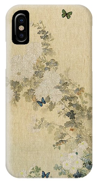 Contemporary Floral iPhone Case - Chrysanthemums by Aged Pixel
