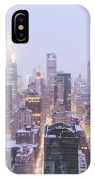 Winter iPhone Case - Chrysler Building And Skyscrapers Covered In Snow - New York City by Vivienne Gucwa