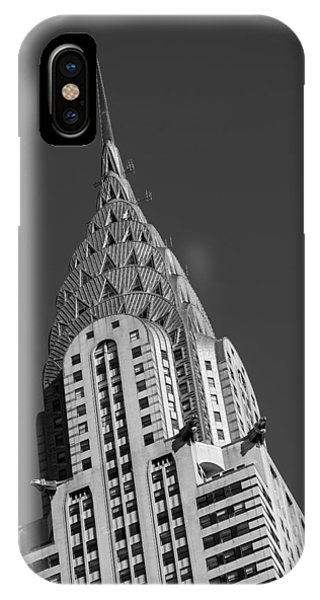 Building iPhone Case - Chrysler Building Bw by Susan Candelario