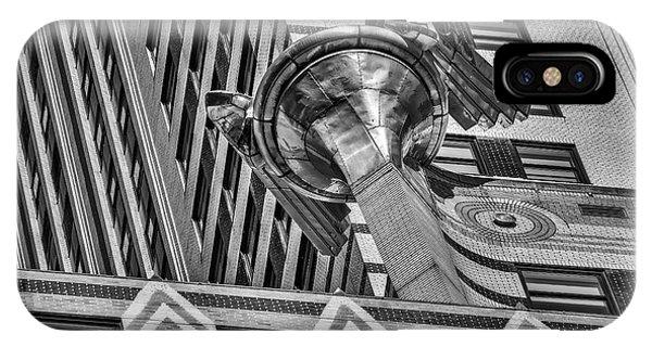 Chrysler Building Gargoyle Bw IPhone Case