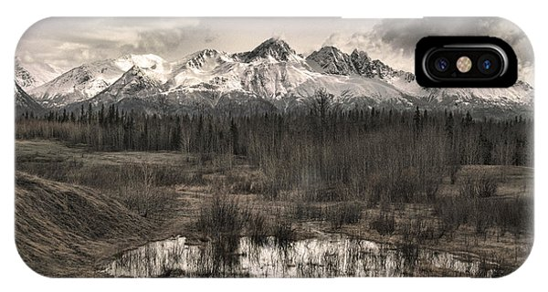 Chugach Mountain Range IPhone Case