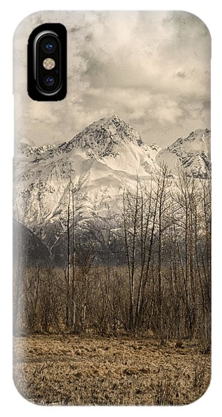 Chugach Mountains In Storm IPhone Case