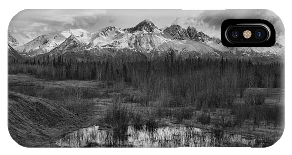 Chugach Mtn Range IPhone Case
