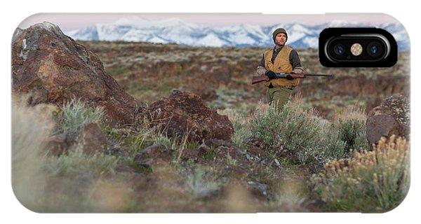 Upland iPhone Case - Chukar Hunting In Nevada by Michael Okimoto