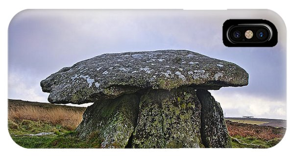 Chun Quoit An Ancient Burial Chamber On The Moors Of Cornwall IPhone Case