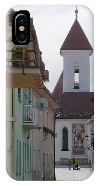Church And Houses - Kranj - Slovenia Phone Case by Phil Banks