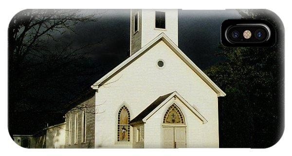 Church At Dusk IPhone Case