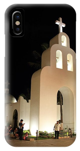Church At Night In Playa Del Carmen IPhone Case