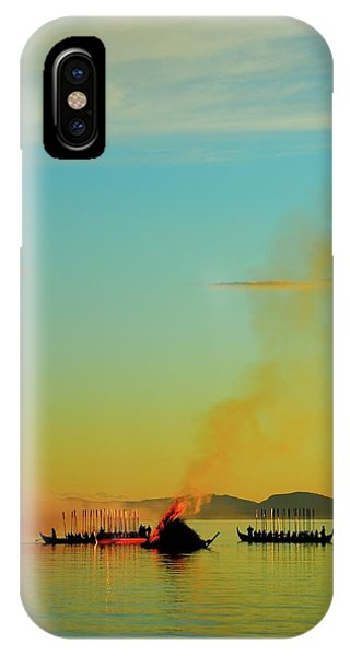 Ceremony iPhone Case - Church Boats On The Lake Siljan by Anders Ludvigson