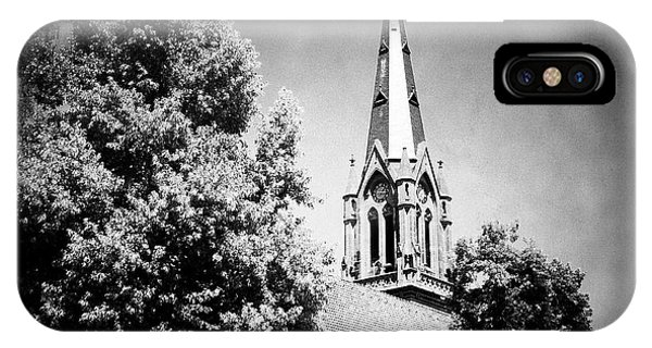 Germany iPhone Case - Church In Black And White by Matthias Hauser