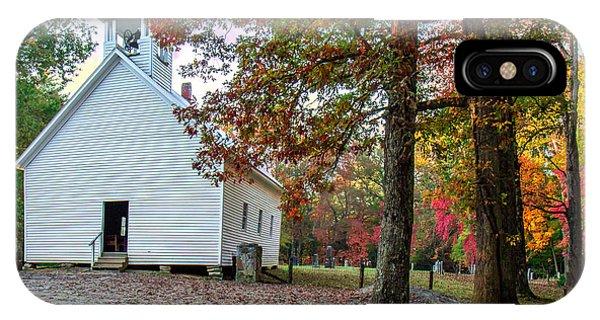 Church In Fall IPhone Case