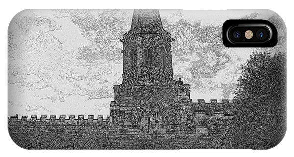 Church In Sketch IPhone Case