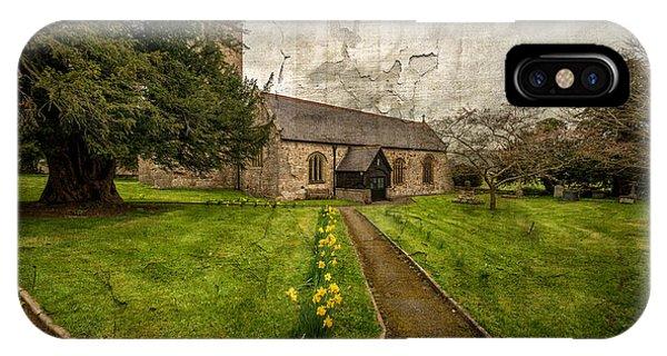Celtics iPhone Case - Church Path by Adrian Evans