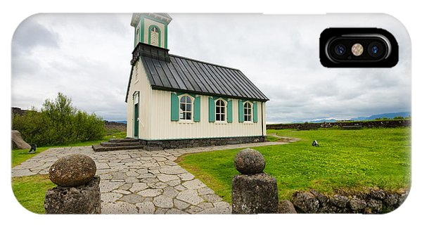 Church Pingvallakirkja South Iceland Pingvellir IPhone Case