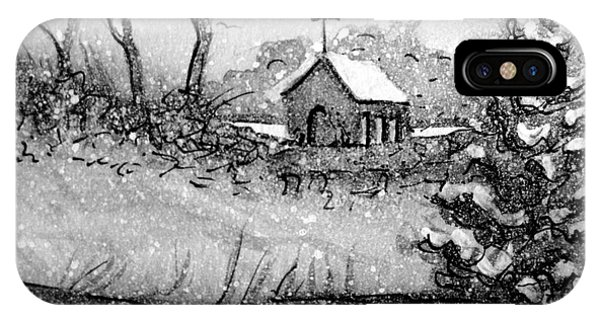 Church Snow Scene IPhone Case