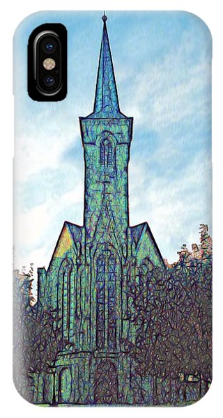 Church Steeple At Sunrise IPhone Case